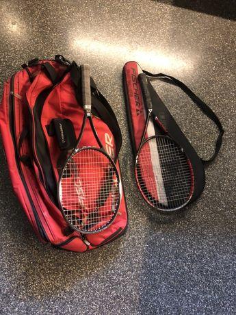 Saco e raquettes de tenis para adulto e crianca