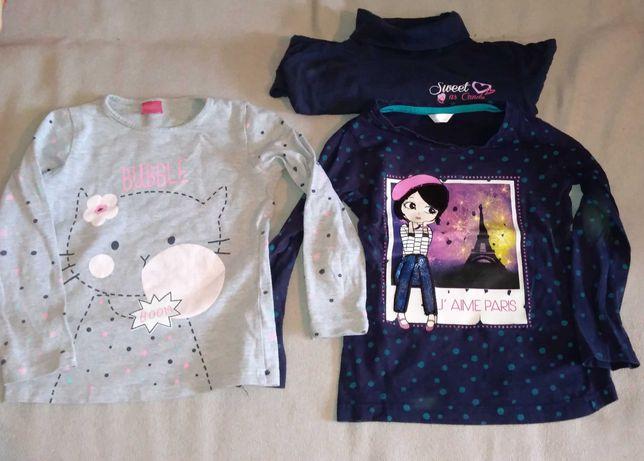 Sandały, koszulki, spódnica, rajstopy 110, 116