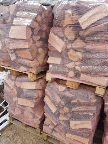 Drewno opałowe liściaste MIX, pocięte i połupane, metry układane