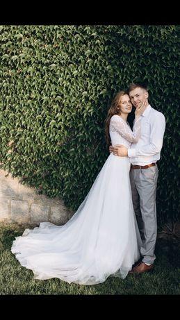 Весільння сукня 2в1