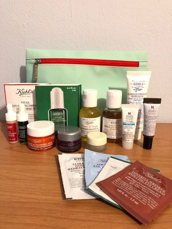 Kiehl's BOX zestaw miniatur kosmetyków +kosmetyczka 14szt