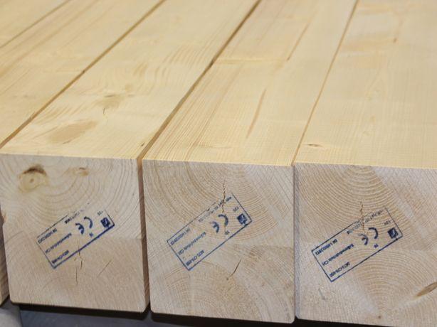 Kantówki klejone DUO, 160x160mm, suszone i strugane. Mikołów, śląskie.