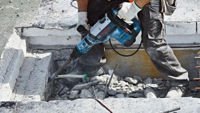 Wyburzenia Kucie betonu Rozbiórka rozbiórki ręczne wywóz gruz