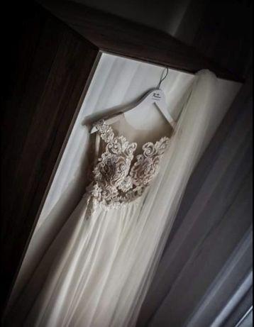 suknia ślubna/ kaledonia/muslonowy dół