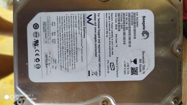 Жесткий диск Seagate barracuda 7200.10 500 gb