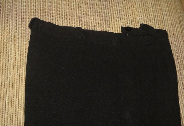 Calças clássicas, pretas, feitas à mão - XL- 42