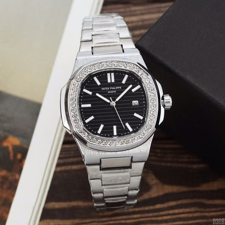 Zegarek Patek Philippe 8001 Silver-Black