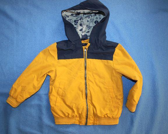 Куртка ветровка на мальчика 2-3 года желтая George