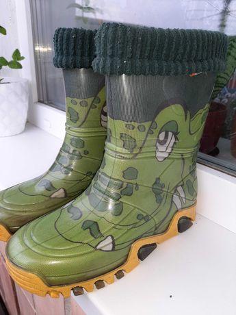 """Гумові чобітки """"крокодил""""  Demar"""