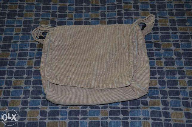 Beżowa, sztruksowa torebka