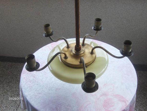 Stara poniemiecka lampa wisząca żyrandol