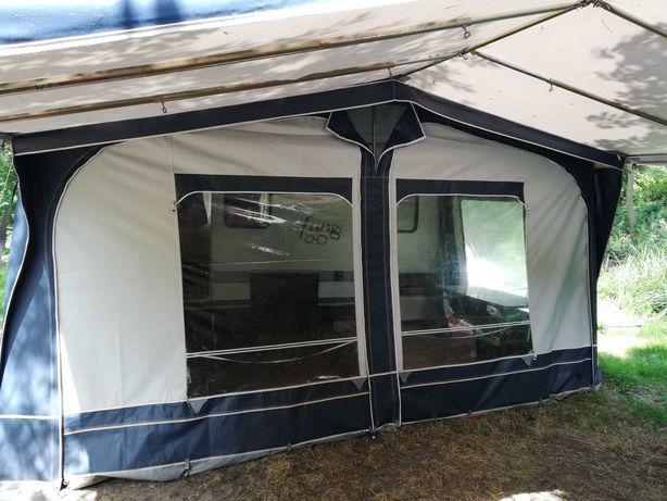 Podwójny namiot przystawka do przyczepy kempingowej