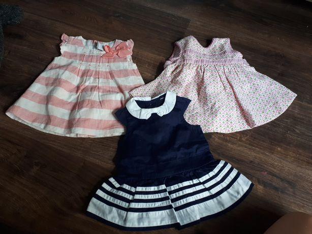 Sukienki 3 szt 5 zl