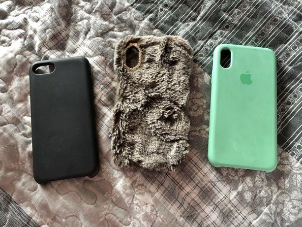 Чехлы на iphone X 7 8, отдам все три за 100