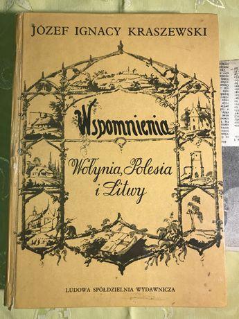 Książka Wspomnienia Wołynia, Polesia i Litwy J. I. Kraszewski gratis