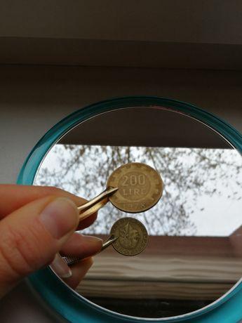 Odwrotka unikat republica italiana 200 lire moneta włoska 1978