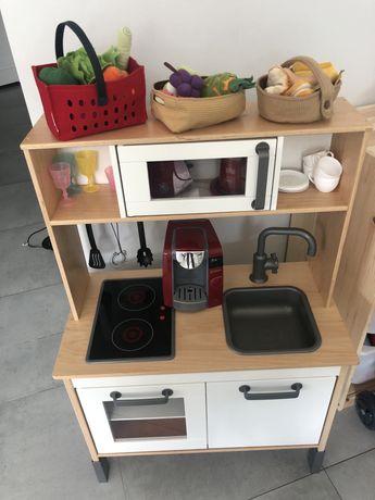 Mega zestaw kuchnia drewniana IKEA DUKTIG + akcesoria! Super cena!