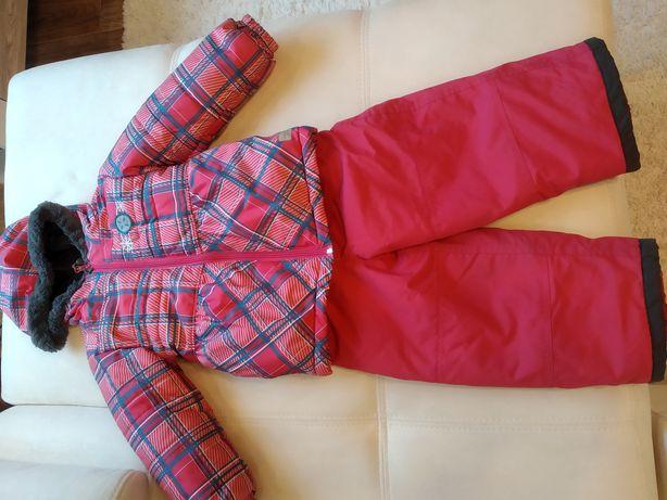 Термо костюм зимний на девочку 3-5 лет