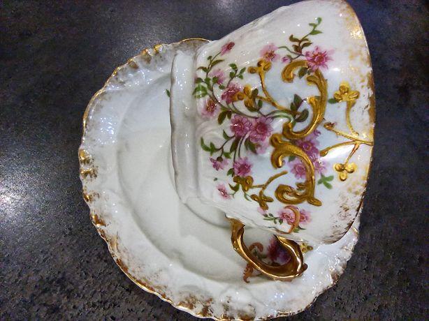 Кофейно-чайная Фарфоровая пара 19 век