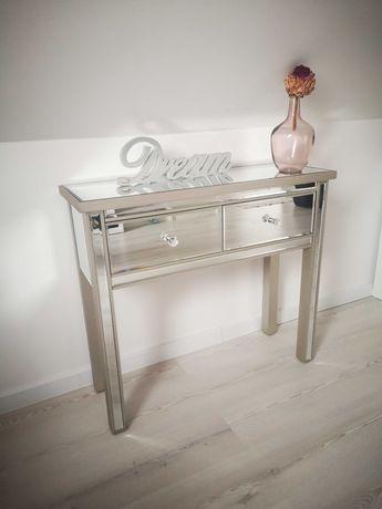 Konsola glamour lustra komoda srebrna