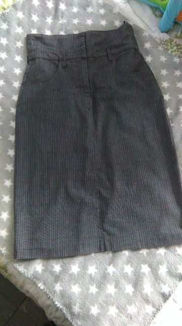 Spódnica ołówkowa biurowa szara 36 Orsay