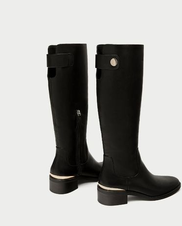 Zara ботфорты, сапоги зара, оригинал, ботинки, демисезонные