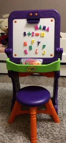 Фирменный детский стол-магнитная доска со стулом Сrayola
