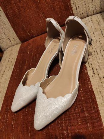 Buty ślubne czółenka białe ZALANDO rozmiar 40