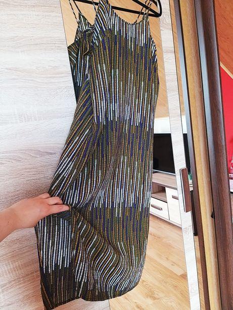 Midi długa sukienka h&m rozcięcie rozcięcia boho Etno etniczna m 38