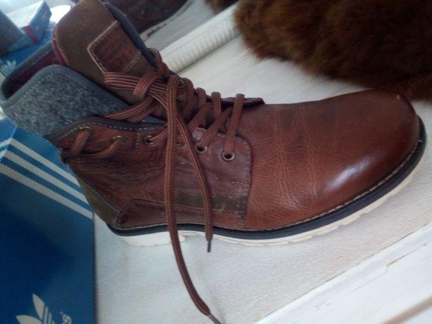 Męskie nowe buty z naturalnej skóry