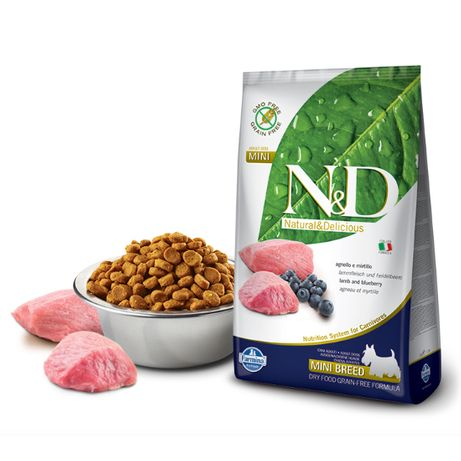 Farmina N&D (Grain Free) Adulto Mini - Borrego e Mirtilo