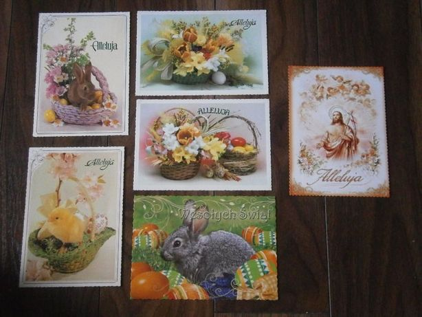 Pocztówki świąteczne wielkanocne kartki wielkanoc