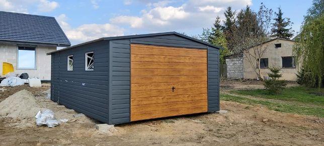 Garaż blaszany 4x6 POZIOM GRAFIT MAT! PROFIL!