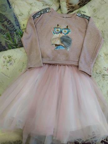 Костюм юбка из Фатина и свитшот