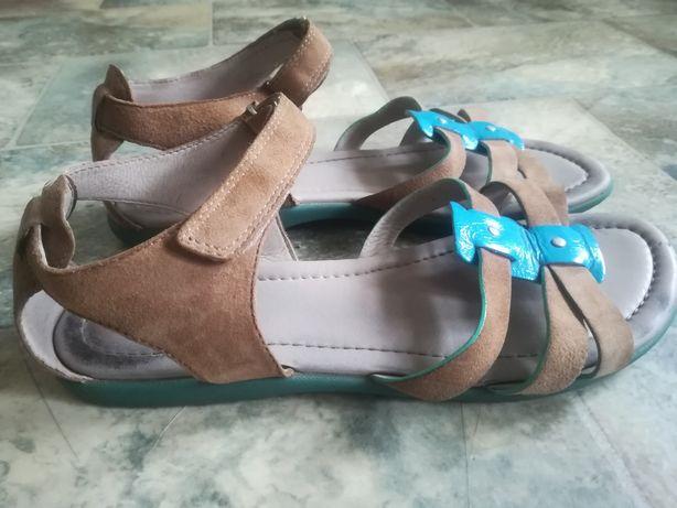 Damskie sandały sandałki Ecco r. 37 skóra