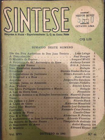 """Revista brasileira """"Síntese"""" 1945"""