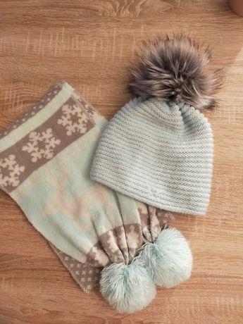 Komplet czapka zimowa, szalik