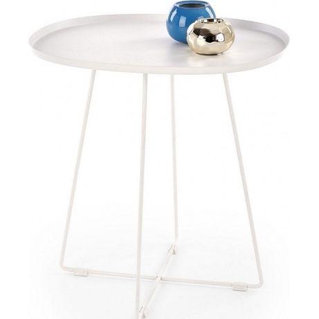 Biały stolik metalowy skandynawski