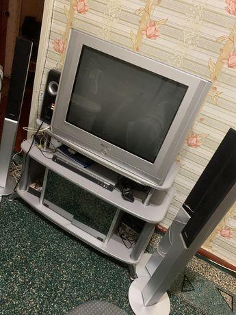 Телевизор,домашний кинотеатр и тумба