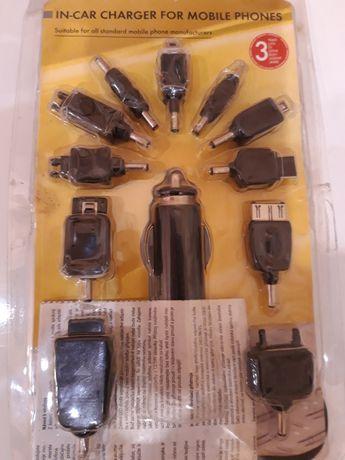 Ładowarka samochodowa 12/24 V do telefonów komórkowych