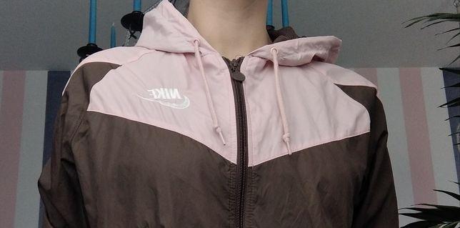 Bluza damska Nike roz. M pudrowy róż z brązem na jogging, rower, aerob