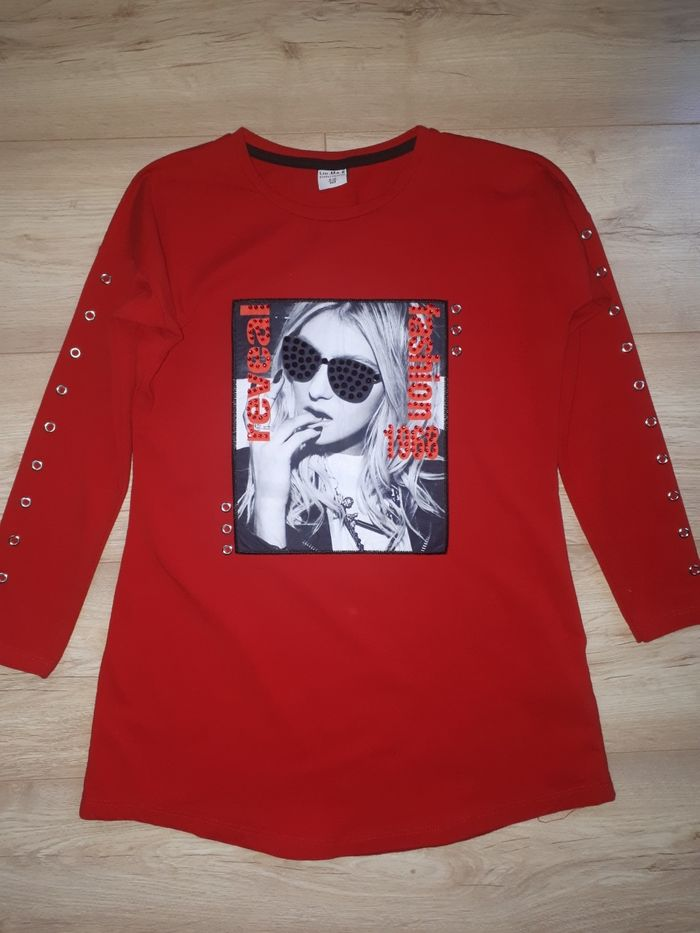 Bluzka tuniczka czerwona Radomsko - image 1