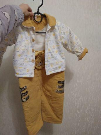 Тёплый костюм, комбинезон, осенний костюм на мальчика