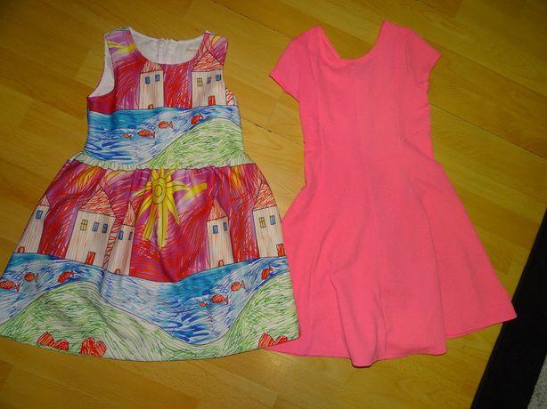 2 sukienki na 128 cm cena za 2 sztuki