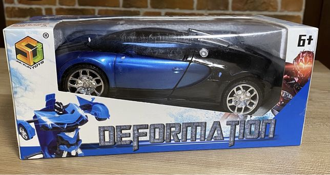 Машинка трансформер Bugatti Robot Car Size 1:18