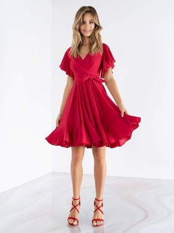 КРАСНОЕ нарядное платье размер 44 как НОВОЕ бренда Emse