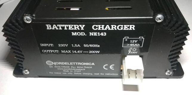 Carregador Baterias Automático 12V 200W NE143 220V 230V Autocaravana
