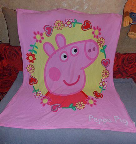 Одеяло плед флис фирмы Peppa Pig