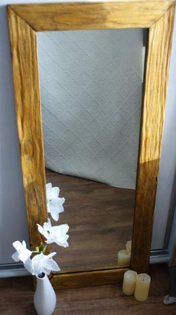 Duże lustro w pięknej drewnianej ramie