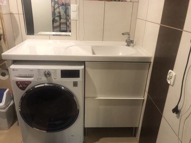 Szafka łazienkowa z umywalką na pralkę IKEA